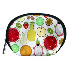 Mango Fruit Pieces Watermelon Dragon Passion Fruit Apple Strawberry Pineapple Melon Accessory Pouches (medium)  by Mariart