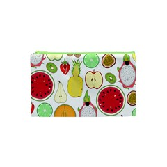 Mango Fruit Pieces Watermelon Dragon Passion Fruit Apple Strawberry Pineapple Melon Cosmetic Bag (xs) by Mariart