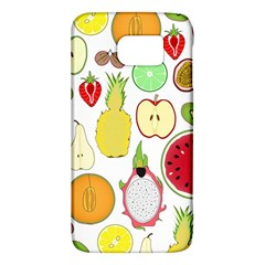 Mango Fruit Pieces Watermelon Dragon Passion Fruit Apple Strawberry Pineapple Melon Galaxy S6 by Mariart