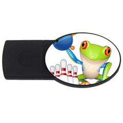 Tree Frog Bowler Usb Flash Drive Oval (2 Gb) by crcustomgifts