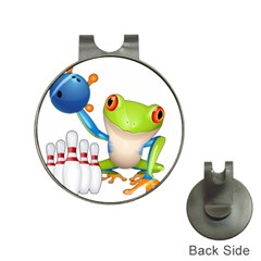 Tree Frog Bowler Hat Clips With Golf Markers by crcustomgifts