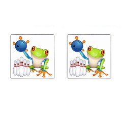 Tree Frog Bowler Cufflinks (square) by crcustomgifts