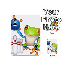 Tree Frog Bowler Playing Cards 54 (mini)  by crcustomgifts