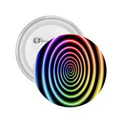 Hypnotic Circle Rainbow 2 25  Buttons by Mariart