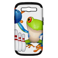 Tree Frog Bowler Samsung Galaxy S Iii Hardshell Case (pc+silicone) by crcustomgifts