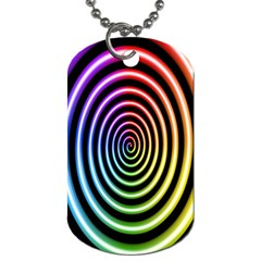 Hypnotic Circle Rainbow Dog Tag (two Sides)