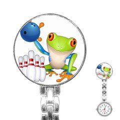 Tree Frog Bowler Stainless Steel Nurses Watch by crcustomgifts