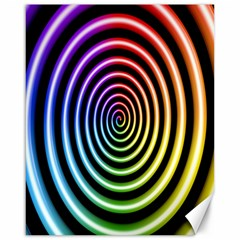 Hypnotic Circle Rainbow Canvas 16  X 20   by Mariart
