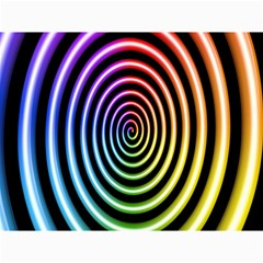 Hypnotic Circle Rainbow Canvas 36  X 48   by Mariart