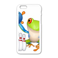 Tree Frog Bowler Apple Iphone 6/6s White Enamel Case by crcustomgifts