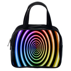 Hypnotic Circle Rainbow Classic Handbags (one Side) by Mariart