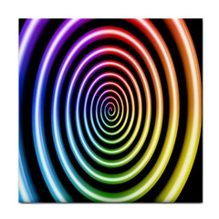 Hypnotic Circle Rainbow Face Towel