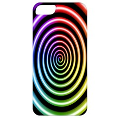 Hypnotic Circle Rainbow Apple Iphone 5 Classic Hardshell Case by Mariart