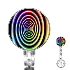 Hypnotic Circle Rainbow Stainless Steel Nurses Watch by Mariart