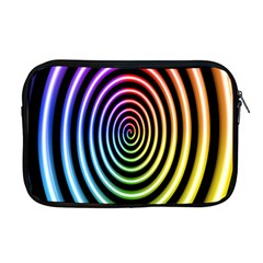 Hypnotic Circle Rainbow Apple Macbook Pro 17  Zipper Case by Mariart