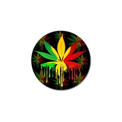 Marijuana Cannabis Rainbow Love Green Yellow Red Black Golf Ball Marker (4 Pack) by Mariart