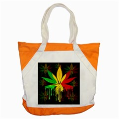 Marijuana Cannabis Rainbow Love Green Yellow Red Black Accent Tote Bag by Mariart