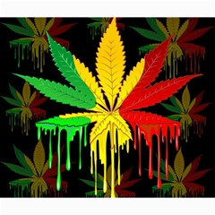 Marijuana Cannabis Rainbow Love Green Yellow Red Black Canvas 20  X 24