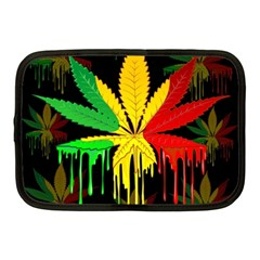 Marijuana Cannabis Rainbow Love Green Yellow Red Black Netbook Case (medium)  by Mariart