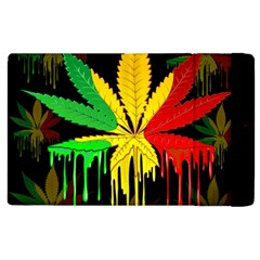 Marijuana Cannabis Rainbow Love Green Yellow Red Black Apple Ipad 2 Flip Case by Mariart