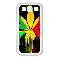 Marijuana Cannabis Rainbow Love Green Yellow Red Black Samsung Galaxy S3 Back Case (white) by Mariart