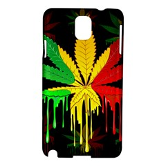 Marijuana Cannabis Rainbow Love Green Yellow Red Black Samsung Galaxy Note 3 N9005 Hardshell Case by Mariart