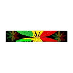 Marijuana Cannabis Rainbow Love Green Yellow Red Black Flano Scarf (mini) by Mariart