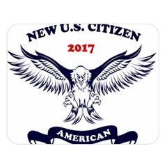 New U S  Citizen Eagle 2017  Double Sided Flano Blanket (large)  by crcustomgifts
