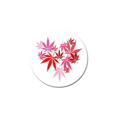 Marijuana Cannabis Rainbow Pink Love Heart Golf Ball Marker (10 Pack) by Mariart