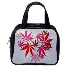 Marijuana Cannabis Rainbow Pink Love Heart Classic Handbags (one Side) by Mariart
