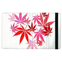Marijuana Cannabis Rainbow Pink Love Heart Apple Ipad 2 Flip Case by Mariart