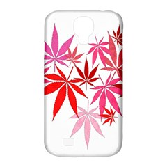 Marijuana Cannabis Rainbow Pink Love Heart Samsung Galaxy S4 Classic Hardshell Case (pc+silicone) by Mariart