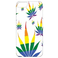 Marijuana Cannabis Rainbow Love Green Yellow Red White Leaf Apple Iphone 5 Classic Hardshell Case by Mariart