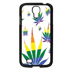 Marijuana Cannabis Rainbow Love Green Yellow Red White Leaf Samsung Galaxy S4 I9500/ I9505 Case (black) by Mariart
