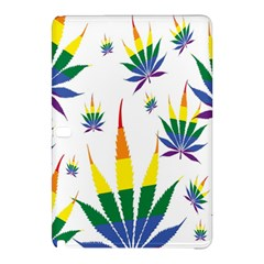 Marijuana Cannabis Rainbow Love Green Yellow Red White Leaf Samsung Galaxy Tab Pro 12 2 Hardshell Case by Mariart