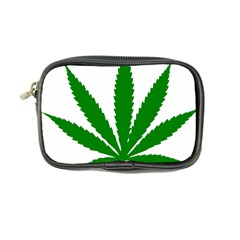 Marijuana Weed Drugs Neon Cannabis Green Leaf Sign Coin Purse