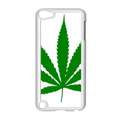 Marijuana Weed Drugs Neon Cannabis Green Leaf Sign Apple Ipod Touch 5 Case (white) by Mariart