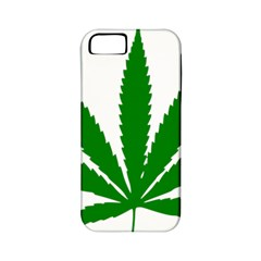 Marijuana Weed Drugs Neon Cannabis Green Leaf Sign Apple Iphone 5 Classic Hardshell Case (pc+silicone) by Mariart