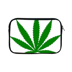 Marijuana Weed Drugs Neon Cannabis Green Leaf Sign Apple Ipad Mini Zipper Cases by Mariart