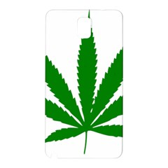 Marijuana Weed Drugs Neon Cannabis Green Leaf Sign Samsung Galaxy Note 3 N9005 Hardshell Back Case by Mariart