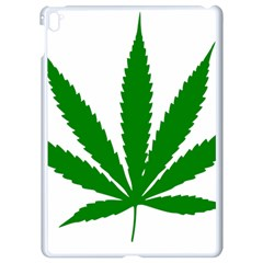 Marijuana Weed Drugs Neon Cannabis Green Leaf Sign Apple Ipad Pro 9 7   White Seamless Case by Mariart