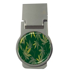 Marijuana Cannabis Rainbow Love Green Yellow Leaf Money Clips (round)  by Mariart