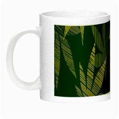 Marijuana Cannabis Rainbow Love Green Yellow Leaf Night Luminous Mugs by Mariart