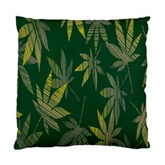 Marijuana Cannabis Rainbow Love Green Yellow Leaf Standard Cushion Case (one Side) by Mariart