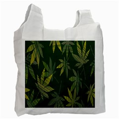 Marijuana Cannabis Rainbow Love Green Yellow Leaf Recycle Bag (one Side) by Mariart