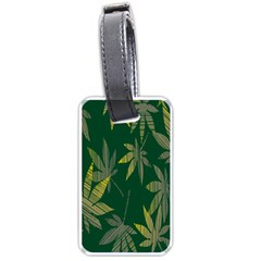 Marijuana Cannabis Rainbow Love Green Yellow Leaf Luggage Tags (two Sides) by Mariart