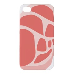 Meat Apple Iphone 4/4s Hardshell Case by Mariart
