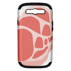 Meat Samsung Galaxy S Iii Hardshell Case (pc+silicone) by Mariart
