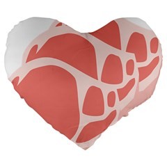 Meat Large 19  Premium Flano Heart Shape Cushions by Mariart