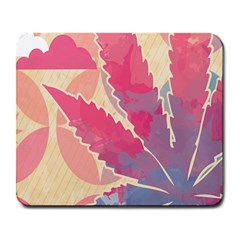 Marijuana Heart Cannabis Rainbow Pink Cloud Large Mousepads by Mariart